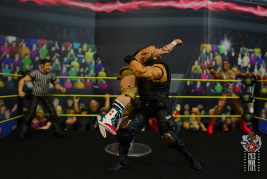 wwe elite authors of pain figure review - akam catches chad gable