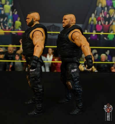 wwe elite authors of pain figure review - left side