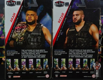 wwe elite authors of pain figure review - package rear