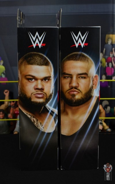 wwe elite authors of pain figure review - package side