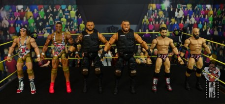 wwe elite authors of pain figure review - scale with american alpha and diy