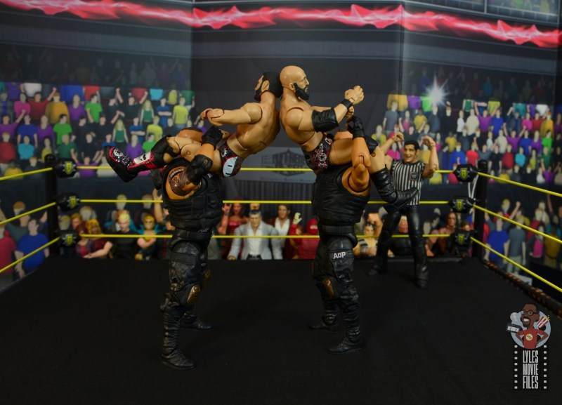 wwe elite authors of pain figure review - stereo powerbomb
