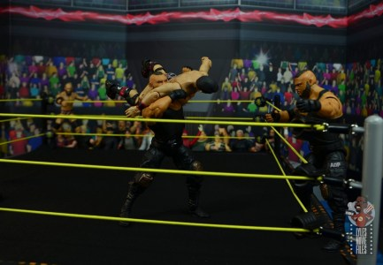 wwe elite authors of pain figure review - throwing gargano to the corner