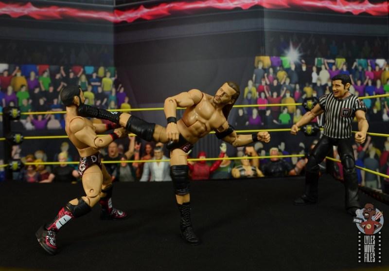 wwe elite undisputed era figure set review - adam cole - super kick to johnny gargano