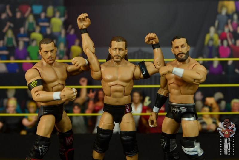 wwe elite undisputed era figure set review -group taunt pose