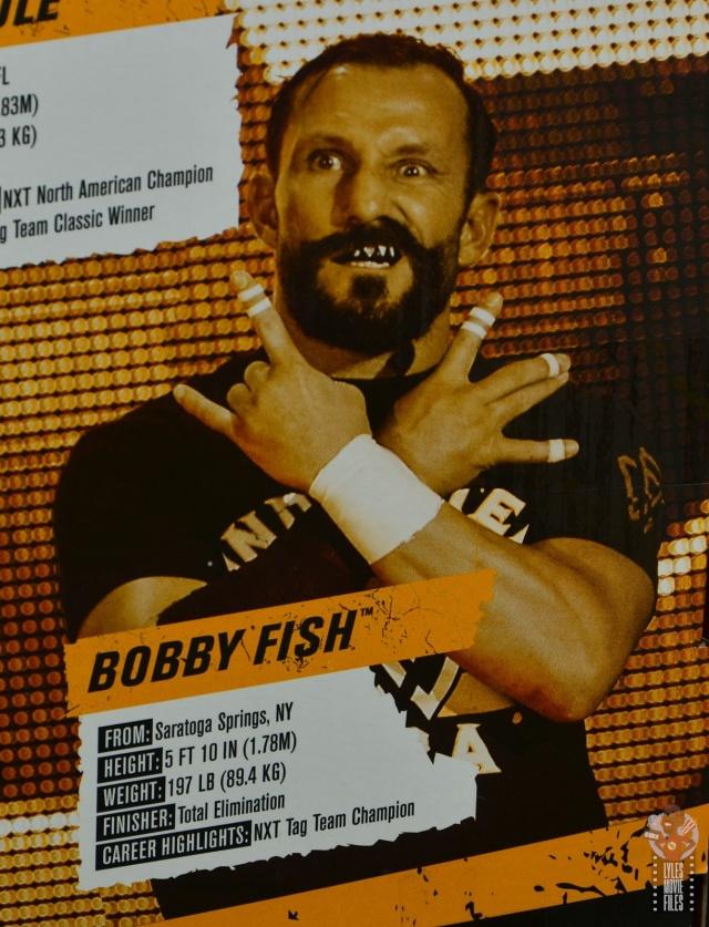 wwe elite undisputed era figure set review - package - bobby fish bio