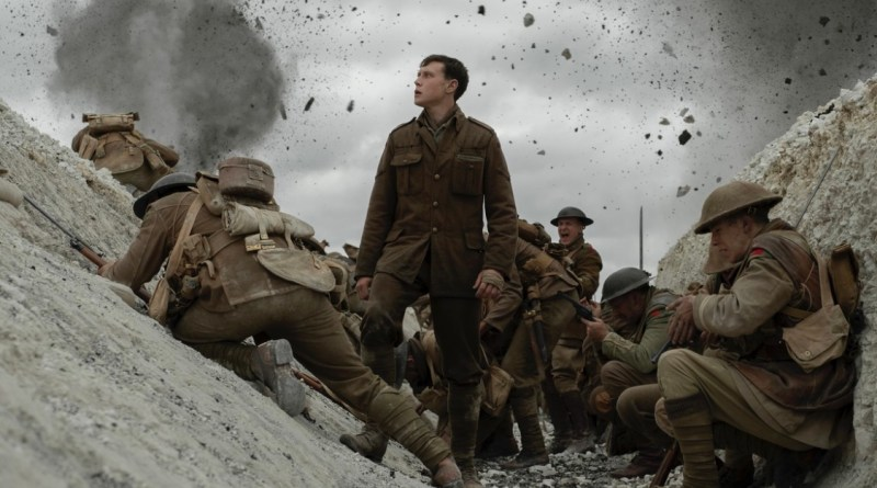 1917 movie review - Schofield in trenches