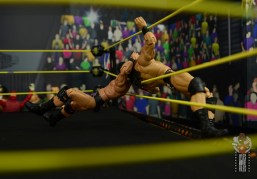 WWE Entrance Greats Bobby Roode figure review - neckbreaker on the ropes to drew mcintyre