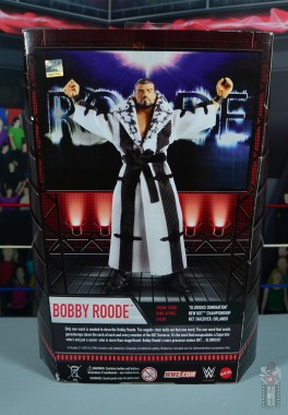 WWE Entrance Greats Bobby Roode figure review - package rear