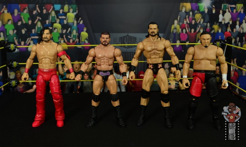 WWE Entrance Greats Bobby Roode figure review - scale with nakamura, drew mcintyre and samoa joe