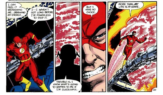 crisis on infinite earths #8 - flash prepares to die