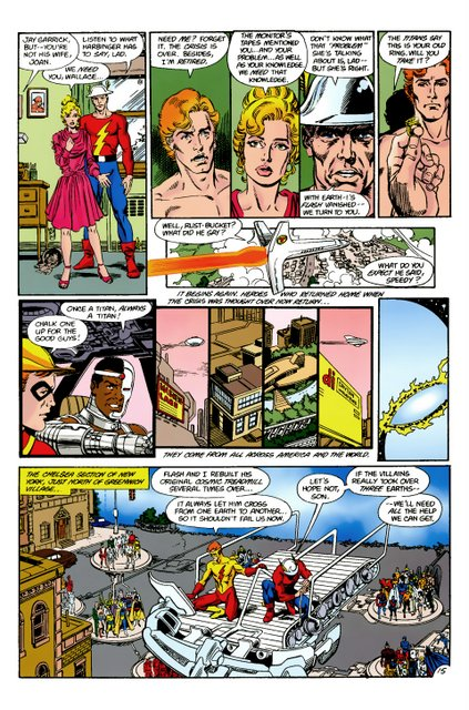 crisis on infinite earths #9 - heroes assemble