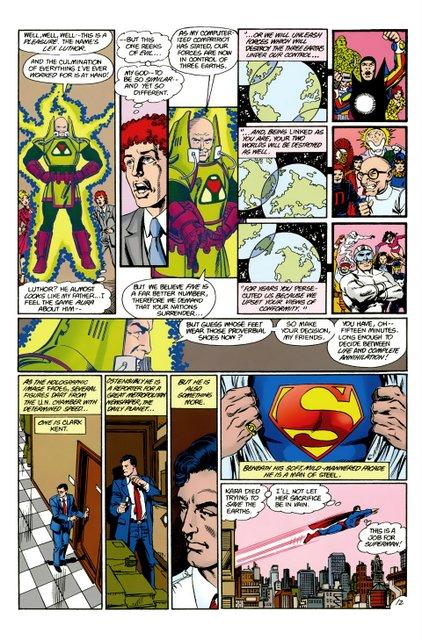 crisis on infinite earths #9 - luthor arrives