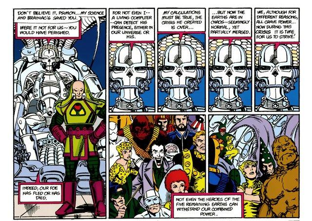 crisis on infinite earths #9 - villains assemble