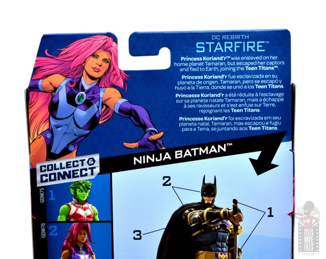 dc multiverse starfire figure review - package bio