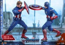 hot toys avengers endgame captain america 2012 figure - cap vs cap