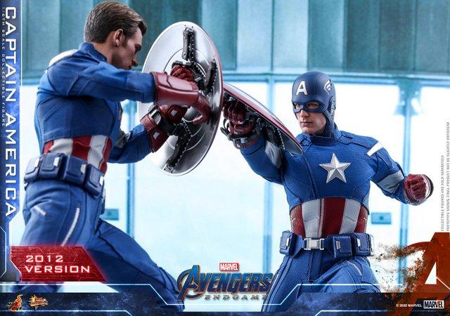 hot toys avengers endgame captain america 2012 figure -uniform close up