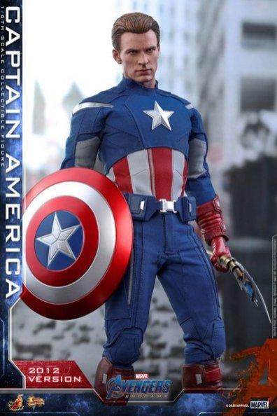 hot toys avengers endgame captain america 2012 figure - wide shot