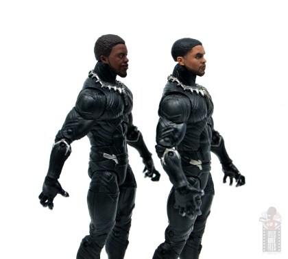 marvel legends black panther civil war 2019 figure review -close up of differences
