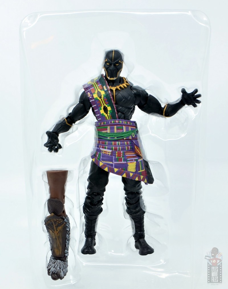 marvel legends black panther t'chaka figure review - accessories in tray
