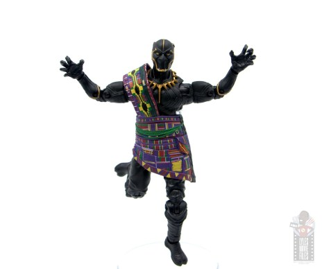 marvel legends black panther t'chaka figure review - leaping