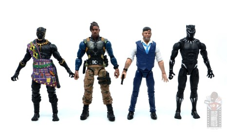 marvel legends erik killmonger figure review - scale with t'chaka, klaue and black panther