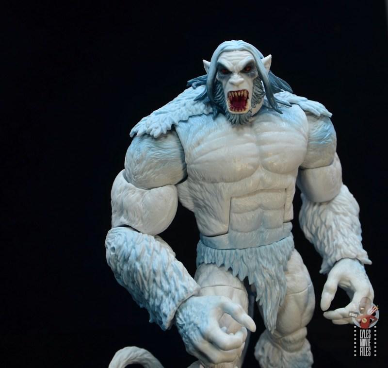 marvel legends wendigo figure review - sculpt detail