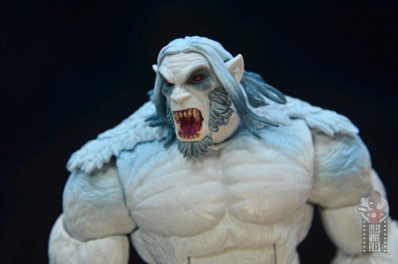 marvel legends wendigo figure review - teeth close up