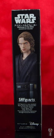 sh figuarts anakin skywalker revenge of the sith figure review - package side