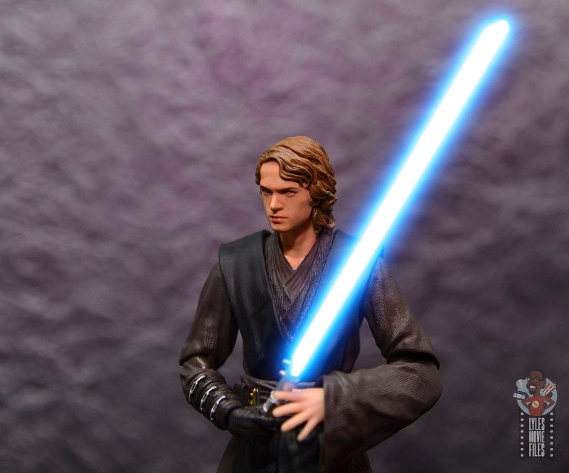 sh figuarts anakin skywalker revenge of the sith figure review - with sith head and lightsaber