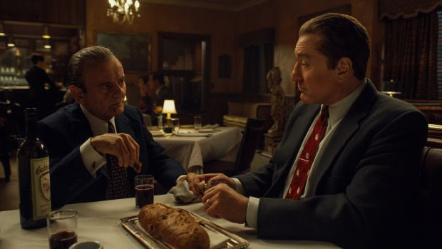 the irishman review - russell and frank
