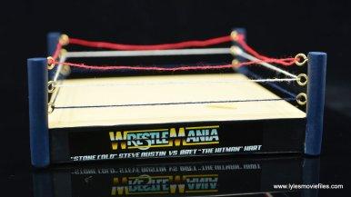 wrestlemania 13 bret hart vs steve austin bobblehead set review - ring rear side