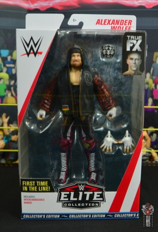 wwe alexander wolfe figure review - package front
