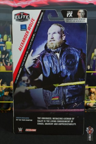 wwe alexander wolfe figure review - package rear