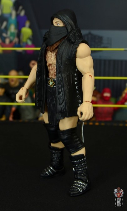 wwe elite killian dain figure review - entrance gear left side