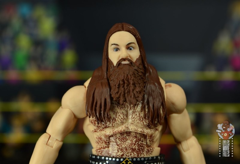 wwe elite killian dain figure review -headsculpt close up