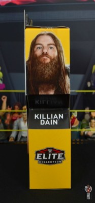 wwe elite killian dain figure review - package side