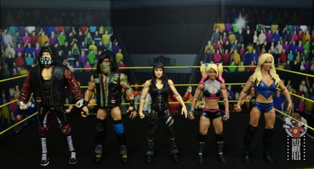wwe elite nikki cross figure review - scale with alexander wolfe, eric young, alexa bliss and charlotte flair