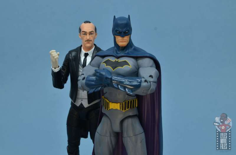 dc multiverse alfred figure review - comic alfred with rebirth batman
