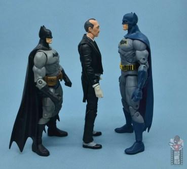 dc multiverse alfred figure review - facing dc classics batman and dc essentials batman