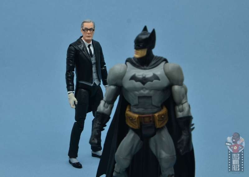 dc multiverse alfred figure review - michael gough alfred with batman