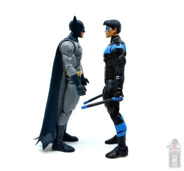 dc multiverse dick grayson batman figure review - facing nightwing