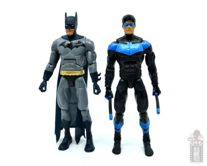 dc multiverse dick grayson batman figure review - scale with nightwing