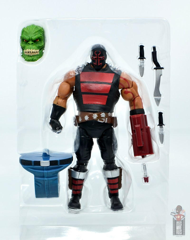 dc multiverse kgbeast figure review - accessories in package
