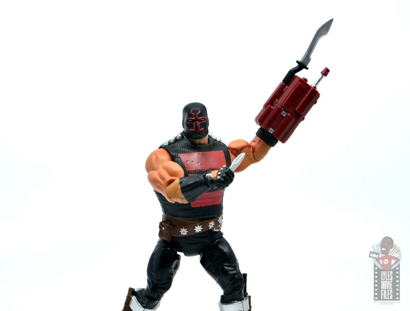 dc multiverse kgbeast figure review - carrying knife