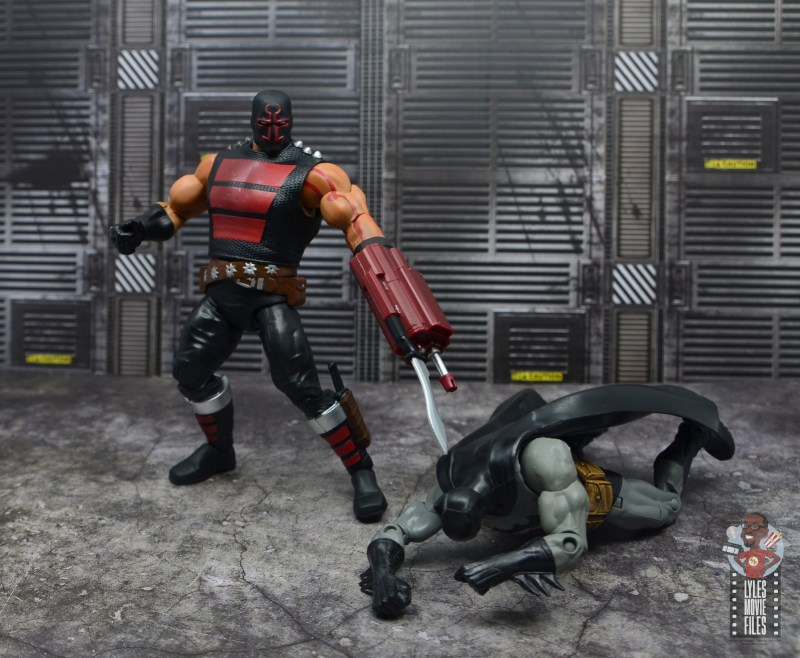 dc multiverse kgbeast figure review - defeated batman