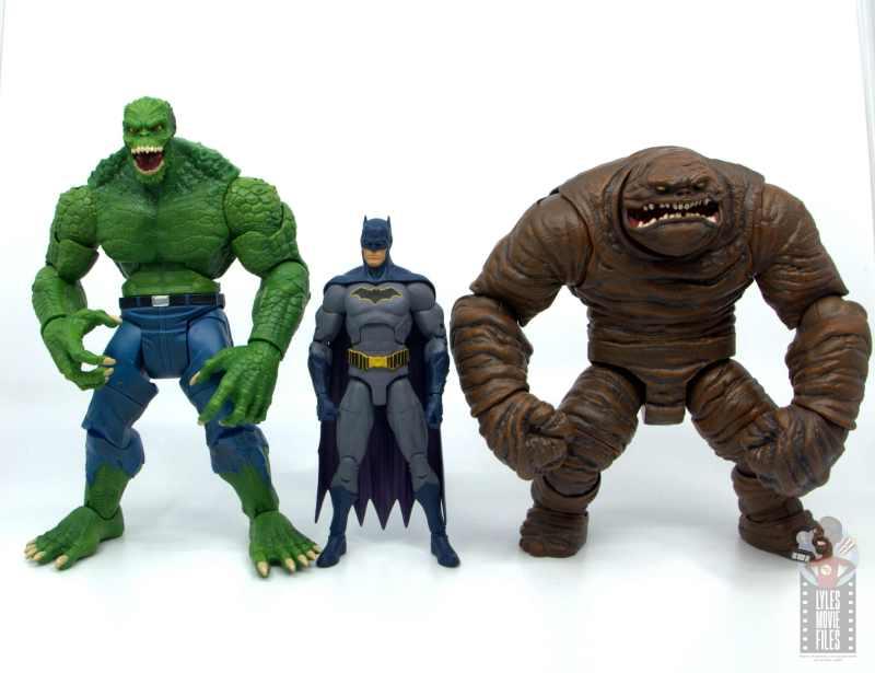 dc multiverse killer croc figure review - scale with dc essentials batman and clayface