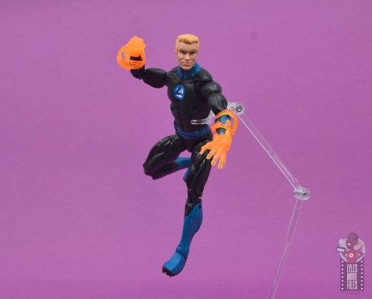 marvel legends human torch figure review - flaming on