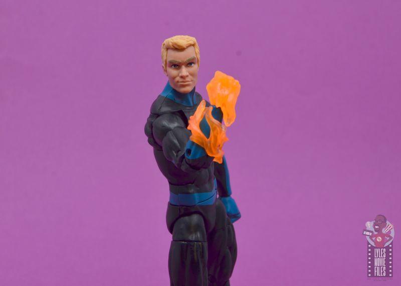 marvel legends human torch figure review - lighting up