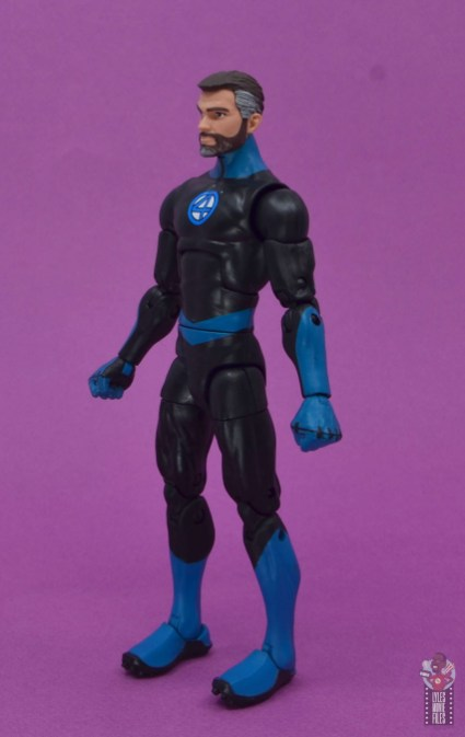 marvel legends mister fantastic figure review - left side